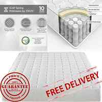 8 Inch Coil Spring Mattress-in-a-box Twin Full Queen King Size Free Shipping