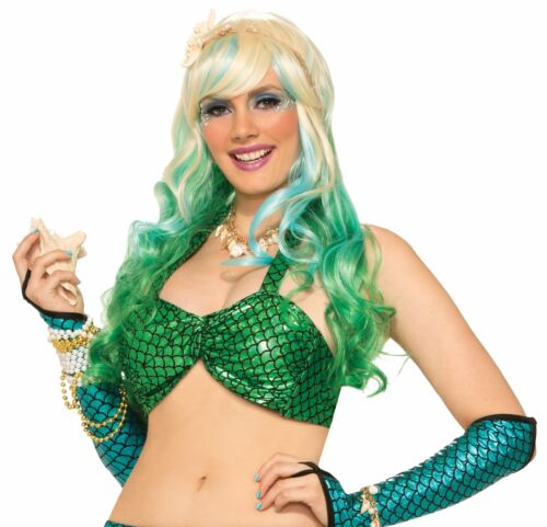 Mermaid Bikini Top Metallic Ariel Sea Fish Halter Adult Womens Costume