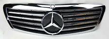 Mercedes S Class W221 07-09 Front Hood Sport 4 Fin Black Chrome Grill Grille