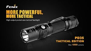 Fenix-PD35-Tactical-Edition-Taschenlampe-1000-Lumen-CR123-Cree-XP-L-V5-LED-gt-gt-NEU