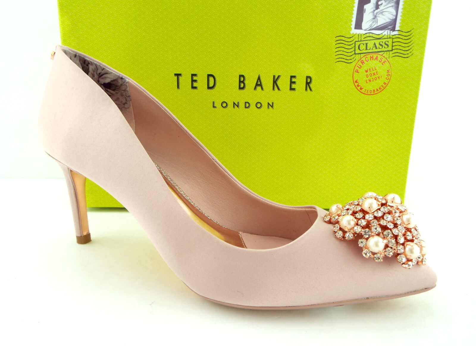 New TED BAKER Size 7 DAHRLIN Pink Satin