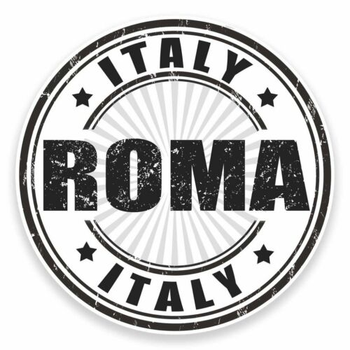 2 X Pegatina de vinilo Roma Italia Coche Viaje Equipaje #9545