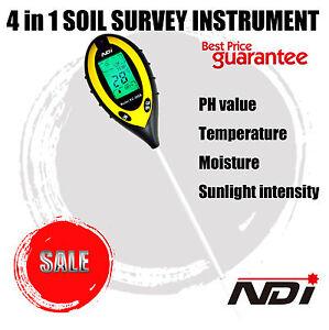 NDI-4In1-LCD-temperature-Moisture-Sunlight-Digital-PH-Soil-Tester-Meter