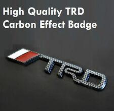 TRD Carbon Fibre Car Badge Emblem COROLLA MRS CELICA YARIS STARLET T Sport 38