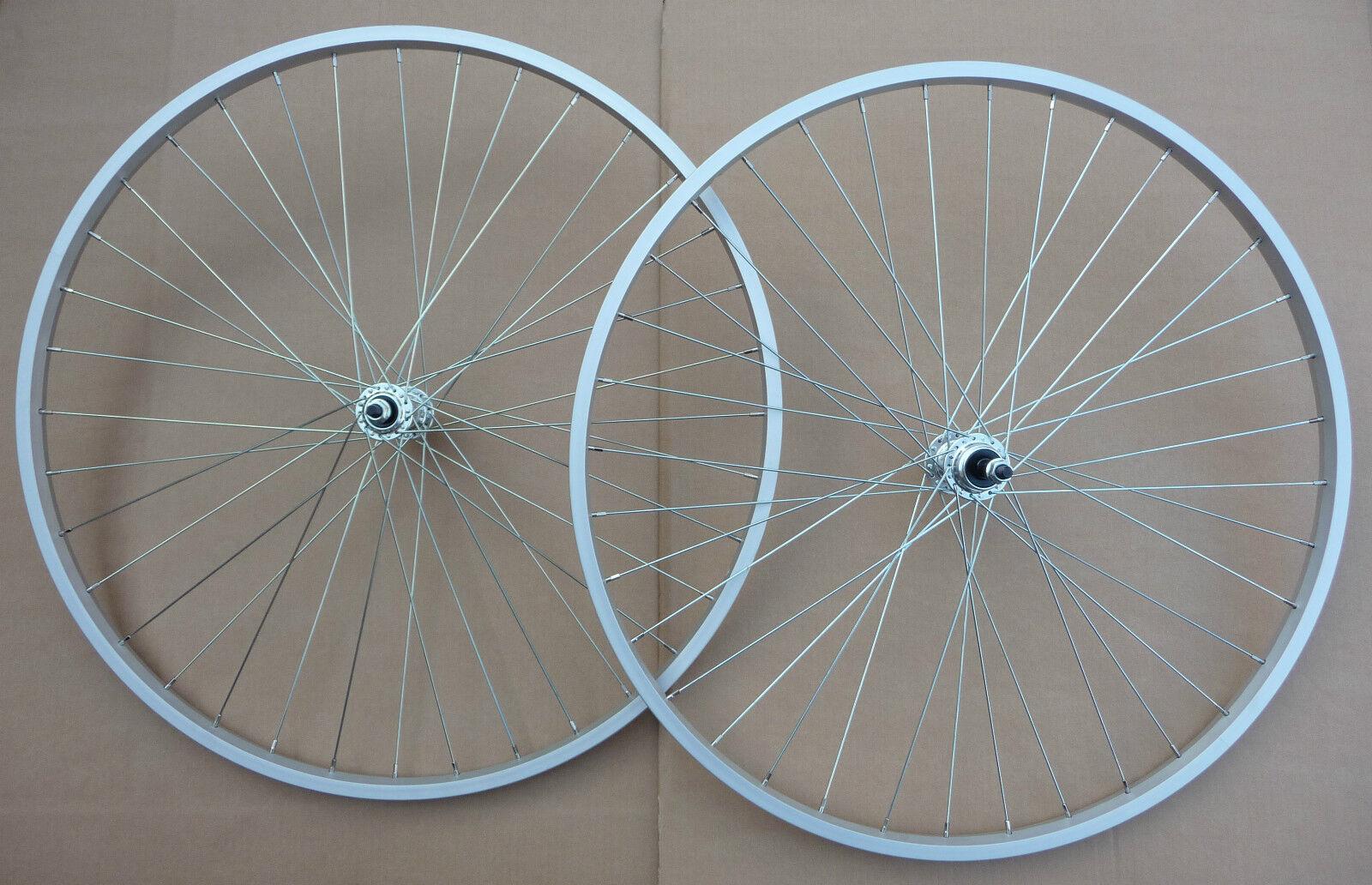Hybrid 700c Bicycle Front   Rear Wheel Wheelset NEW Bike Cycle Freewheel Hub