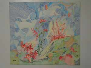 Abstract Pointillism Drawing Ebay