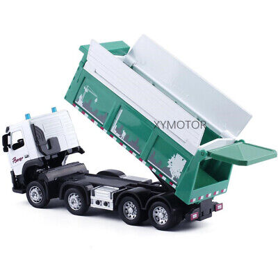 1//50 Volvo FM Concrete Pump Truck Diecast Model Toys Car Gifts with 2 Workers