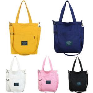 Women-Canvas-Shopping-Shoulder-Bags-Zipper-Cross-body-Tote-Handbag-Handle-Bag