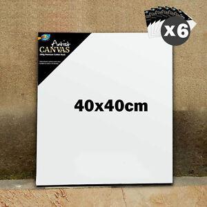 6 x artist blank canvas 16x16 40x40cm 3 4 thick wholesale bulk