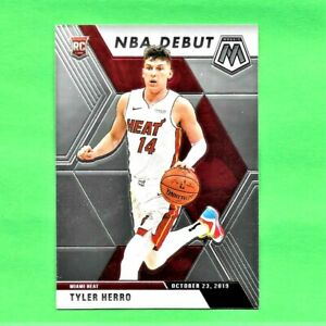 2019-20-Panini-Prizm-Mosaic-Tyler-Herro-Rookie-Card-RC-NBA-Debut-Miami-Heat