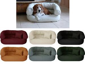 Fergus imitation cuir lit de chien couchage chien coussin panier lit de chat tailles S-xxl