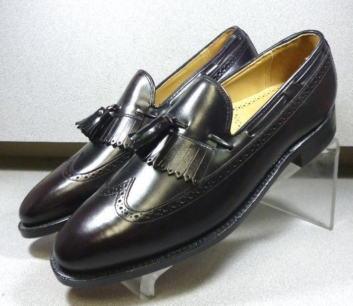 2408609 ES50 Men's Shoes Size 6 EEE Burgundy Leather Slip On Johnston & Murphy