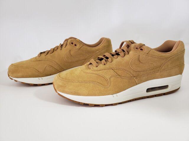 buy online e2d67 cd1a3 Nike Air Max 1 Premium Blé Flax Gomme Mayenne Marron Homme (875844-203)