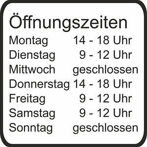 Offnungszeiten-Aufkleber-fuer-Geschaeftszeiten-Schild-Gewerbe-Uv-Wasserfest-E02