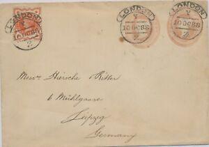 GB-1888-QV-One-Penny-rosa-Privat-GU-m-2-Wertstempeln-Huggins-ESC24-PROSCHOLD