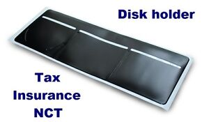 New-Black-Windscreen-Tax-Insurance-NCT-Disc-Holder-for-Cars-Vans-Taxi