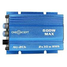 300 W MINI IN CAR MOTORCYCLE HIFI AMPLIFIER BLUE NEW COMPACT AMP 2 X 30 W RMS
