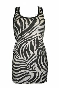 NEW-GIRLS-LADIES-ZEBRA-ANIMAL-PRINT-LONG-VEST-TANK-TOP-GOTH-EMO-PUNK-NIGHT-OUT