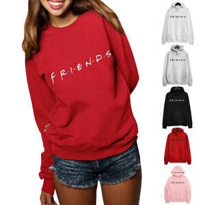 Men-Women-Hoodies-Jumper-Pullover-Friends-Print-Casual-Sweatshirt-Warm-Outwear