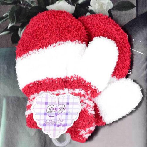 Baby Kid Girls Boys Child Gloves Winter Warm Stretchy Mittens Soft Plush  8C
