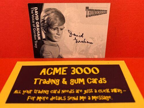 Unstoppable Thunderbirds Series2 Autograph Card DAVID GRAHAM DG3 Gordon PROOF