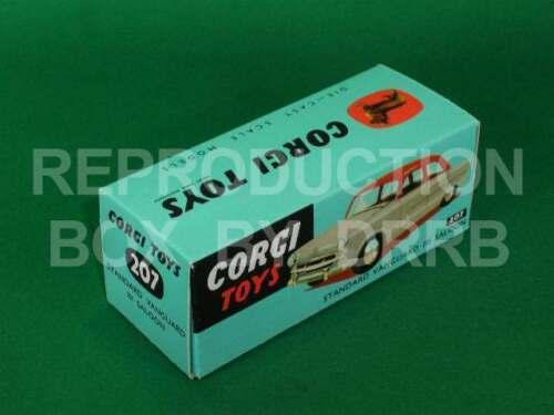 Corgi #207 Standard Vanguard Berlina-Caja de reproducción por drrb