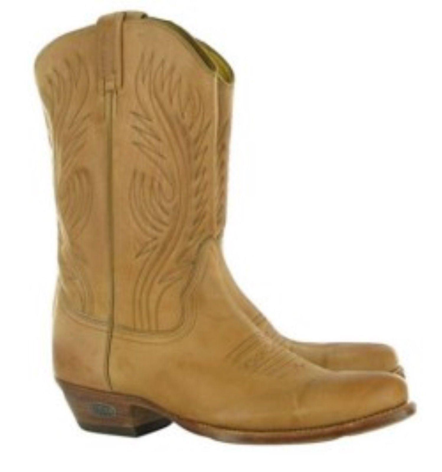 Loblan 194 Tan Beige Leather Cowboy Stiefel Handmade Classic herren Western Stiefel