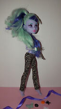 Kleidung für Monster High Twyla und Howleen/Leggings mit Leopardenmuster+Deko♥