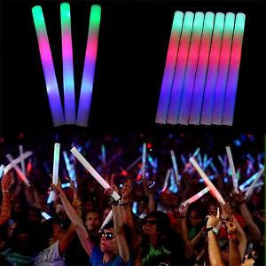 30PCS-Light-Up-Foam-Sticks-LED-Wands-Rally-Rave-Batons-DJ-Flashing-Glow-Stick