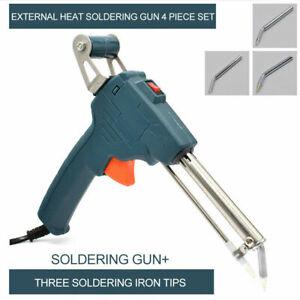 220V-60W-Hand-held-Internal-Heating-Soldering-Iron-Automatically-Send-Tin-Gun-UK