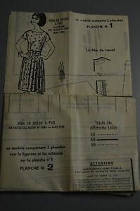 034-MODES-amp-TRAVAUX-034-PATRON-MAI-1964-PATRON-POUPEE-MICHEL-A10