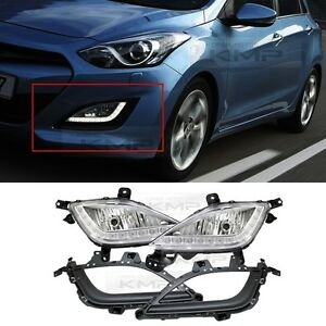 Genuine-Parts-LED-DRL-Fog-Light-Lamp-Cover-Wire-For-HYUNDAI-2013-2016-Elantra-GT