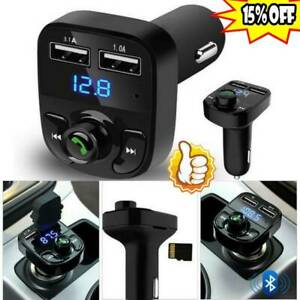 Wireless-Bluetooth-Handsfree-Cars-Kit-FM-Transmitter-MP3Player-Dual-USB-Charger