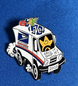Usps Sell It Ship It Pin Ebay Live 2005 Mail Truck Lapel Tac Ebay