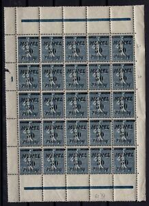 PP133406-MEMEL-MI-61-MINT-MNH-BLOCK-OF-25-INCL-61-IV-CV-220