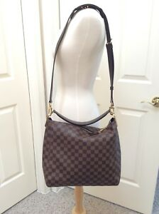 b583e3a98e16 Image is loading Louis-Vuitton-Damier-Ebene-Portobello-PM-with-crossbody-
