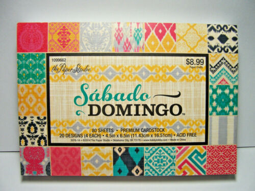 """The Paper Studio 4.5/"""" x 6.5/"""" Premium Cardstock Artistic Graphic Patterned Sheets"""