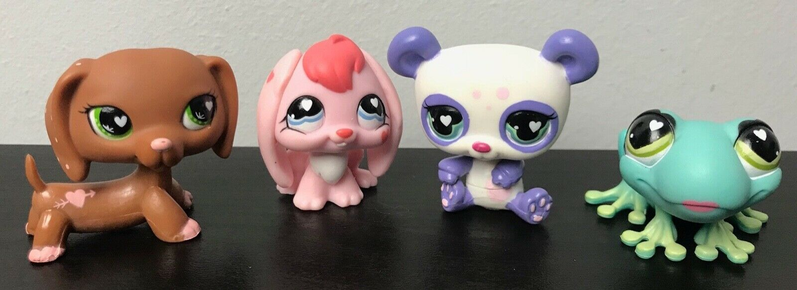 LPS Littlest Pet Shop Valentines Dachshund Bunny Frog Panda