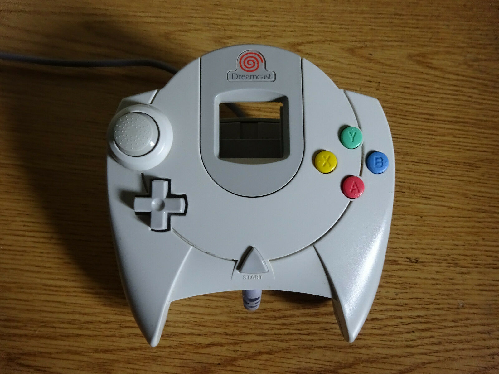 Original Sega Dreamcast HKT-7700 Controller White Wired - Tested and Works!