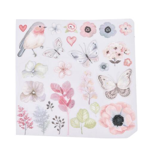 1x Flower Bird patch pour les vêtements de fer sur les transferts Easy Print DIY