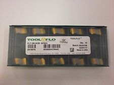 10pc Toolflo Flt 3r Hcb Gp50c Top Notch Carbide 60 V Threading Inserts Nt 3r