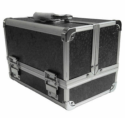 Professional Black Rose Beauty Jewellery Storage Bag Cosmetic Box Make Up Case
