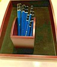Sierra Wooden Office Desk Paper Or Letter Tray Set Amp Pencil Cup 10 X 14