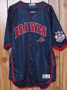 Vintage-True-Fan-MLB-Atlanta-Braves-Jersey-Men-039-s-Size-XL
