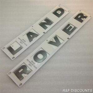 New Genuine Land Rover Freelander 2 Bonnet Badge Decal Lettres En Gris-afficher Le Titre D'origine Dernier Style