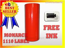 Fluorescent Red Label For Monarch 1110 Pricing Gun 1 Sleeve16rolls