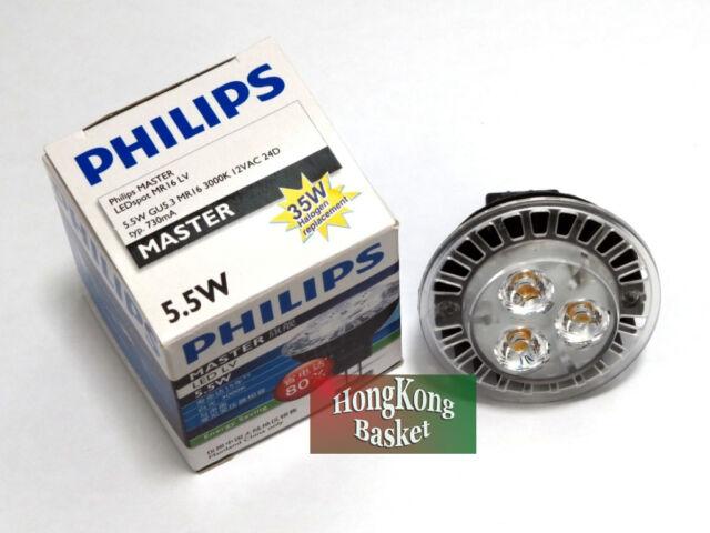 10pcs Philips Master Led Mr16 Lv Gu5 3 3000k 12v 24 36d 5 5w 50w Light Bulb
