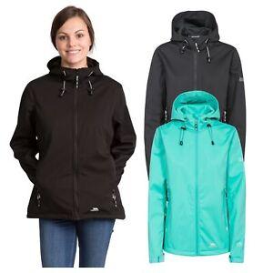 Trespass-Marsa-Women-Soft-Shell-Jacket-Windproof-In-Black-amp-Green