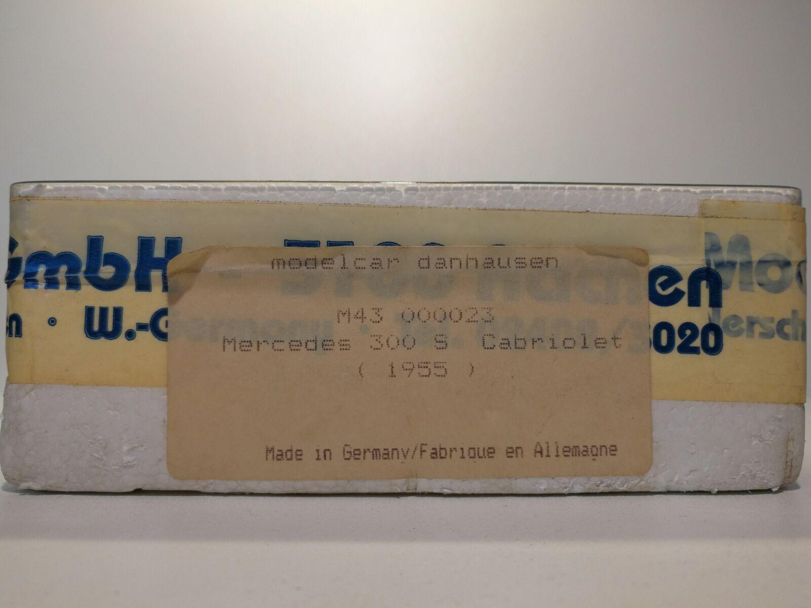 Cadeau de noel noel noel DANHAUSEN MERCEDES 300 S Cabriolet de 1955 m1.43 Kit neu&ovp | Achats En Ligne  933e0b