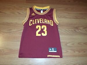buy popular c015d 64249 Details about Lebron James Adidas Boys Cleveland Cavaliers Swingman Jersey  Size Small